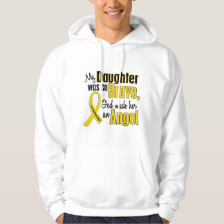 Childhood Cancer ANGEL 1 Daughter Hooded Pullover