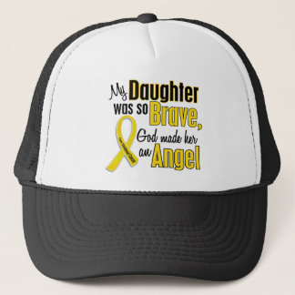 Childhood Cancer ANGEL 1 Daughter Trucker Hat