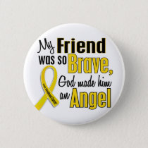Childhood Cancer ANGEL 1 Friend (Male) Button