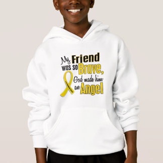 Childhood Cancer ANGEL 1 Friend (Male) Hoodie