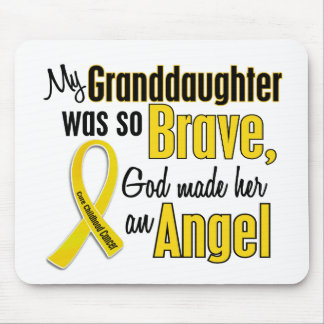 Childhood Cancer ANGEL 1 Granddaughter Mouse Pad
