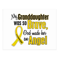Childhood Cancer ANGEL 1 Granddaughter Postcard