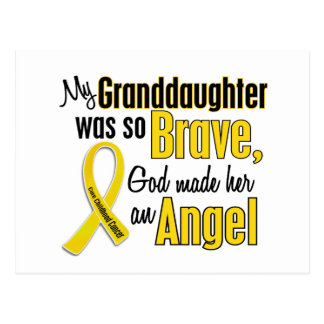 Childhood Cancer ANGEL 1 Granddaughter Postcard