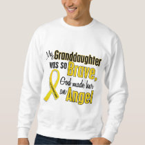 Childhood Cancer ANGEL 1 Granddaughter Sweatshirt