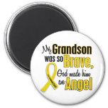 Childhood Cancer ANGEL 1 Grandson Fridge Magnets