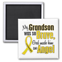 Childhood Cancer ANGEL 1 Grandson Magnet