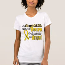 Childhood Cancer ANGEL 1 Grandson T-Shirt