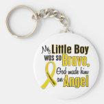 Childhood Cancer ANGEL 1 Little Boy Basic Round Button Keychain