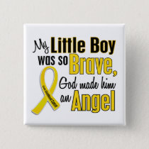 Childhood Cancer ANGEL 1 Little Boy Button