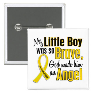 Childhood Cancer ANGEL 1 Little Boy Pin