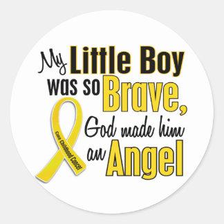 Childhood Cancer ANGEL 1 Little Boy Classic Round Sticker