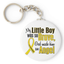 Childhood Cancer ANGEL 1 Little Boy Keychain
