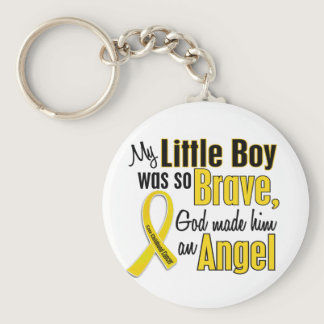 Childhood Cancer ANGEL 1 Little Boy Keychain
