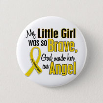 Childhood Cancer ANGEL 1 Little Girl Pinback Button