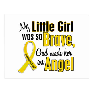 Childhood Cancer ANGEL 1 Little Girl Postcard