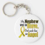 Childhood Cancer ANGEL 1 Nephew Basic Round Button Keychain