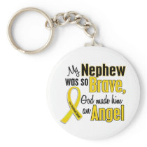Childhood Cancer ANGEL 1 Nephew Keychain