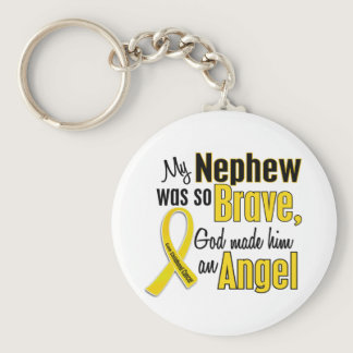 Childhood Cancer ANGEL 1 Nephew Keychain