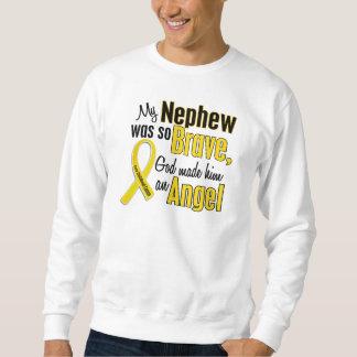 Childhood Cancer ANGEL 1 Nephew Sweatshirt