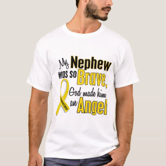 Childhood Cancer ANGEL 1 Nephew T-Shirt