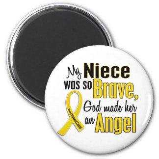 Childhood Cancer ANGEL 1 Niece 2 Inch Round Magnet