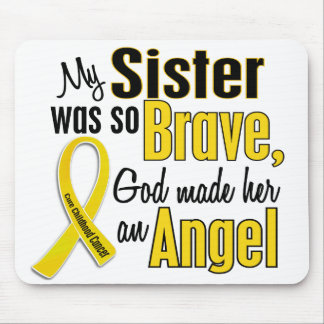 Childhood Cancer ANGEL 1 Sister Mouse Pad