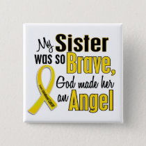 Childhood Cancer ANGEL 1 Sister Pinback Button