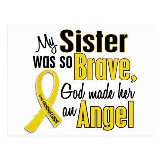 Childhood Cancer ANGEL 1 Sister Postcard