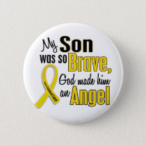 Childhood Cancer ANGEL 1 Son Button