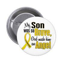 Childhood Cancer ANGEL 1 Son Button