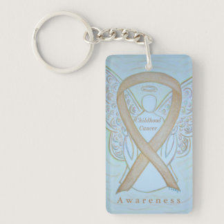 Childhood Cancer Angel Awareness Ribbon Keychain