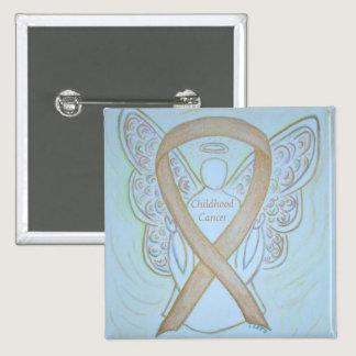 Childhood Cancer Angel Gold Awareness Ribbon Pins