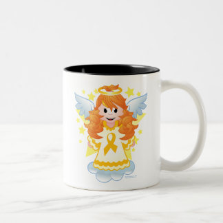 Childhood Cancer Angel Ribbon Two-Tone Coffee Mug