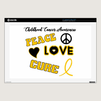 "Childhood Cancer Awareness 17"" Laptop Skin"