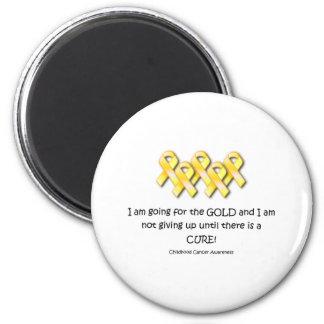 Childhood Cancer Awareness 2 Inch Round Magnet