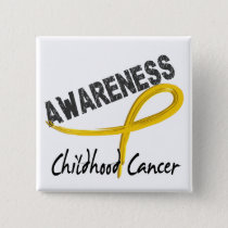 Childhood Cancer Awareness 3 Pinback Button