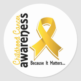 Childhood Cancer Awareness 5 Classic Round Sticker