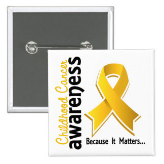 Childhood Cancer Awareness 5 Pinback Button