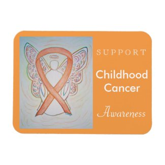Childhood Cancer Awareness Angel Custom Magnet