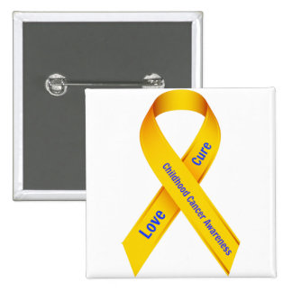 Childhood Cancer Awareness Badge Pinback Button