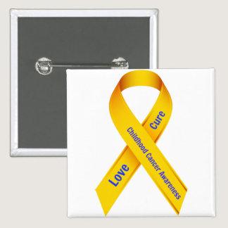 Childhood Cancer Awareness Badge Pinback Button