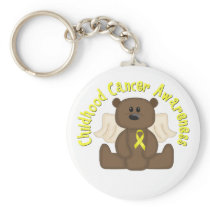 Childhood Cancer Awareness Bear Keychain