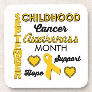 Childhood Cancer Awareness Beverage Coaster