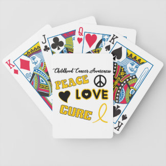 Childhood Cancer Awareness Bicycle Playing Cards