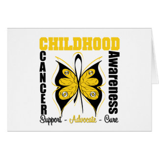 Childhood Cancer Awareness Butterfly Card