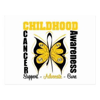Childhood Cancer Awareness Butterfly Postcard