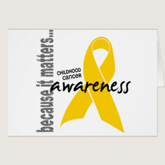 Childhood Cancer Awareness Card