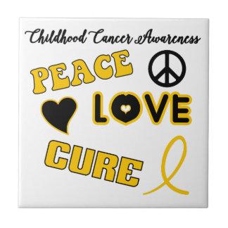 Childhood Cancer Awareness Ceramic Tile