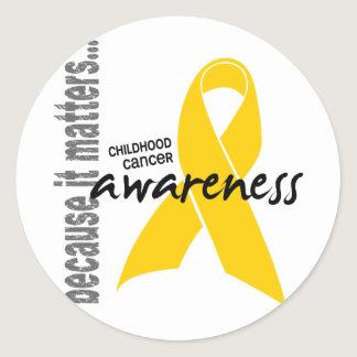 Childhood Cancer Awareness Classic Round Sticker