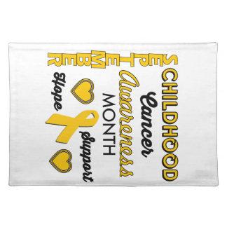 Childhood Cancer Awareness Cloth Placemat